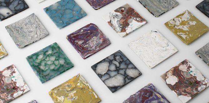 Duurzame plastic stone tiles